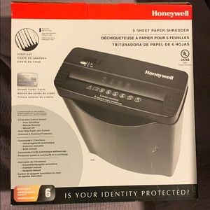 Honeywell 6 Sheet Paper Shedder